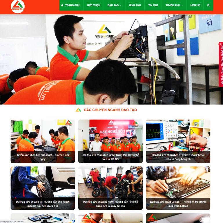 Mẫu Web Trường Dạy nghề