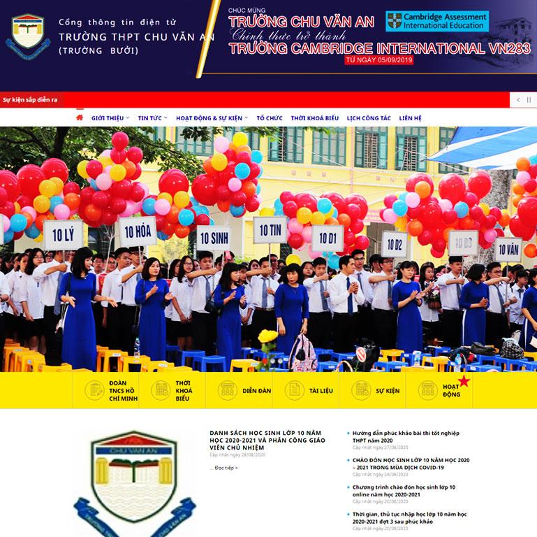 Mẫu Web Trường THPT