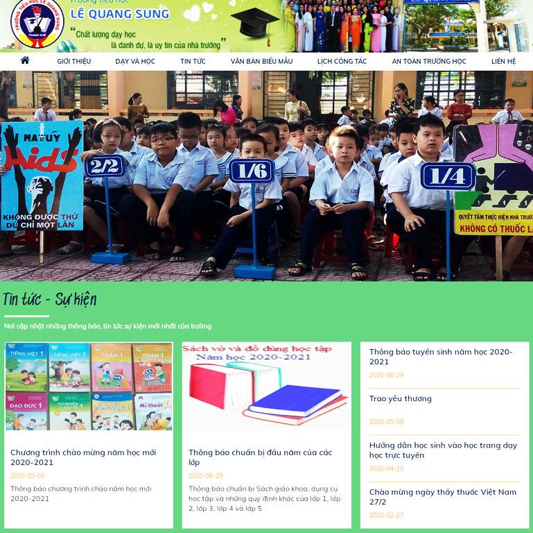Mẫu Web Trường Tiểu học